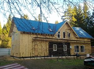 Двухэтажная каркасная пристройка Осельки