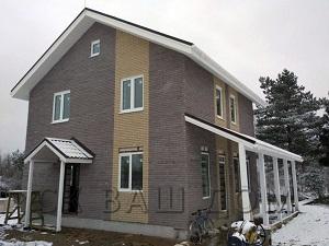 Двухэтажный дом из газобетона Тобино