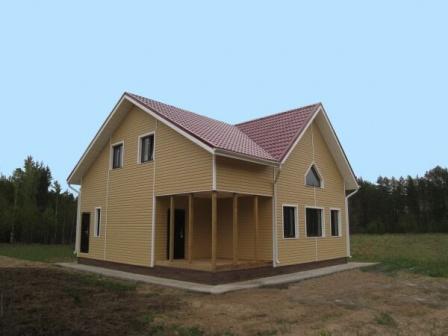 Двухэтажный каркасный дом «СТАНДАРТ-КЛАСС» Лодейное поле