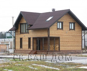 Двухэтажный каркасный дом бассейный комплекс Семрино