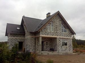 Дом из газобетона Пороги