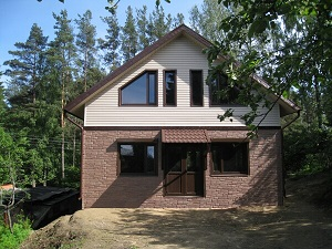 Каркасный дом Шале на склоне Токсово 2