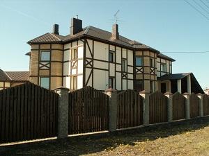 Отделка фасада загородного дома Стрельна