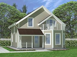 Проект дома Сосново-2