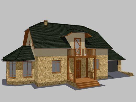 Проект дома из газобетона Премиум