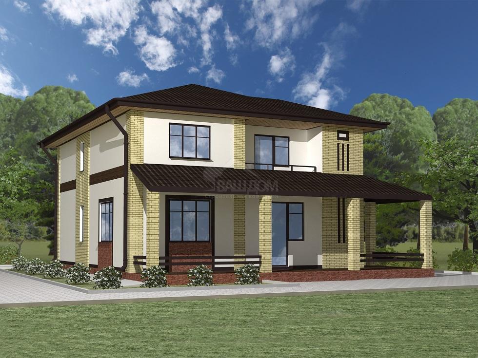 Проект двухэтажного дома «Сосново»