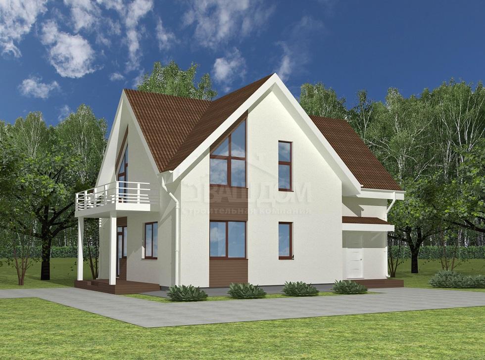Проект двухэтажного дома «Волхов»